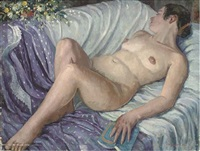 reclining nude (+ 10 others; 11 works) by frederick stonham