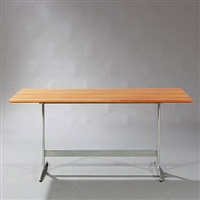 rectangular dining table with shaker by arne jacobsen