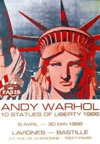 statues of liberty by andy warhol
