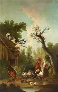 hühnerhof by melchior de hondecoeter