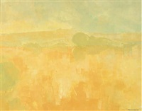 yellow landscape (+ 7 others; 8 works) by frederick stonham