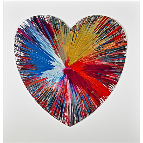 heart spin painting by damien hirst
