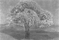 blühender baum auf einer frühlingswiese by jean philippe edouard robert