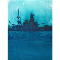 untitled (ship); burnt again dammit (2 works) by david rathman