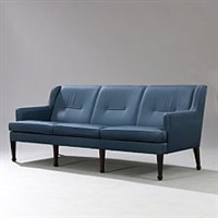 freestanding three seater sofa by frits henningsen