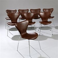 seven chair (set of 8) by arne jacobsen