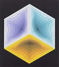 jalons (portfolio of 6) by victor vasarely