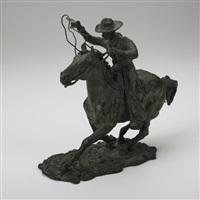a mounted cowboy by humberto peraza