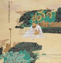 寒士素酒图 by ma weichi