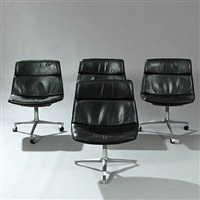 swivel chairs (set of 4) by preben fabricius