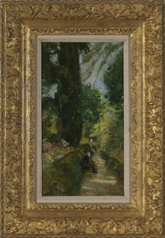 the garden path, cos cob, connecticut by john henry twachtman