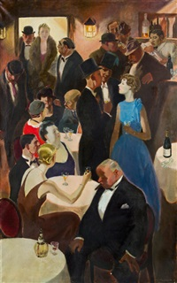 an der bar by alfred gerstenbrand