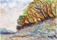 trees on the bluffs, st. francisville by william arnold