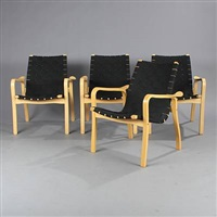 armchairs (set of 4) by yngve ekstrom