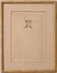 portrait sketch of madame fontveille (no. 2) by mary cassatt