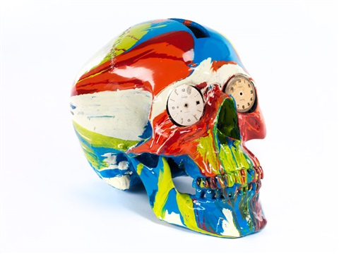 the hours spin skull by damien hirst