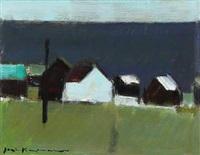 village by the sea, the faroe islands by jack kampmann