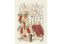 orchestra(pierre de tartas editeur); from madrigaux; from tartarin de tarason (3 works) by raoul dufy