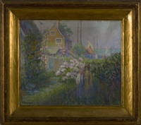 seaside cottage with garden by anna w. speakman