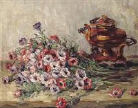 anemonen und teekessel by rudolf petuel