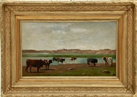 cows at pasture by louis young