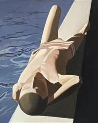 reclining swimmer by zhang peili