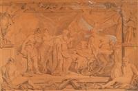 alexander der große mit seinem arzt philipp by georg friedrich schmidt