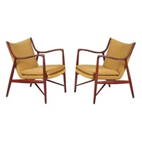 nv 45 chairs (pair) by finn juhl