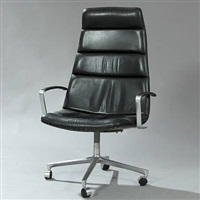 highback swivel chair by preben fabricius