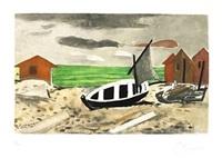 barque sur la plage by georges braque