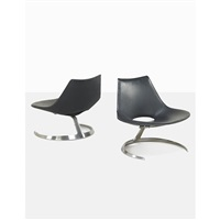 scimitar chairs (pair) by preben fabricius