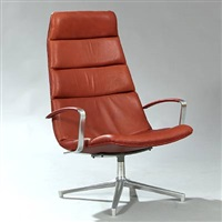 highback swivel lounge chair by preben fabricius
