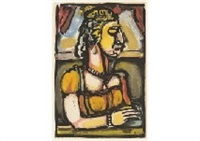 dame a la huppie from passion by georges rouault