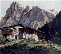 in bergell, sciora-gruppe by otto ackermann-pasegg