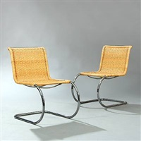 chairs (pair) by ludwig mies van der rohe