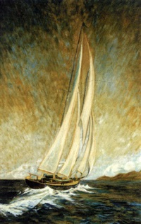 sailing boat, lake pontchartrain by alex coulonge