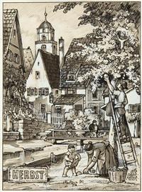 die vier jahreszeiten (set of 4) by otto obermeier