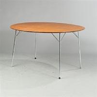circular table (model 3600) by arne jacobsen