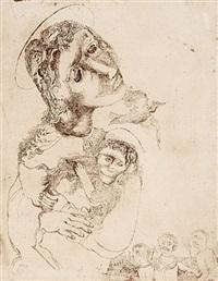madonna mit kind und taube by otto coester