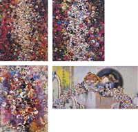 as the interdimensional waves run through me (and others, four works) by takashi murakami