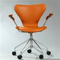 seven chair swivel chair (model 3217) by arne jacobsen