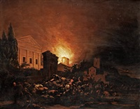 the city in flames by egbert lievensz van der poel