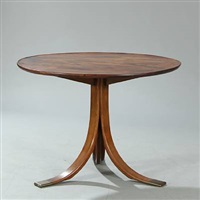 circular coffee table by frits henningsen