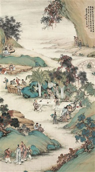 西园雅集 (the west garden) by qian xiong