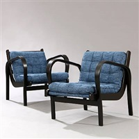 easy chairs (pair) by jindrich halabala
