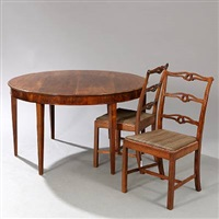 dining room suite (set of 12) by frits henningsen