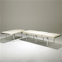 three-seat bench (+ two-seat bench, smllr; 2 pieces) by j. behringer