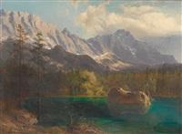 der eibsee bei garmisch-partenkirchen by michael sachs