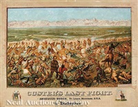 custer's last fight (after cassilly adams) by f. otto becker