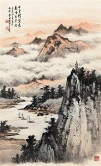 云影归帆 by huang junbi